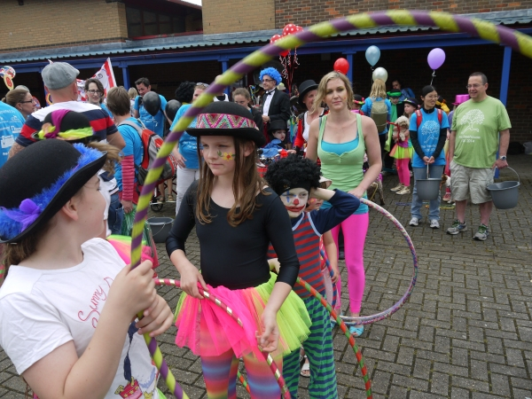 Hula hoopers, who were equally impressive...