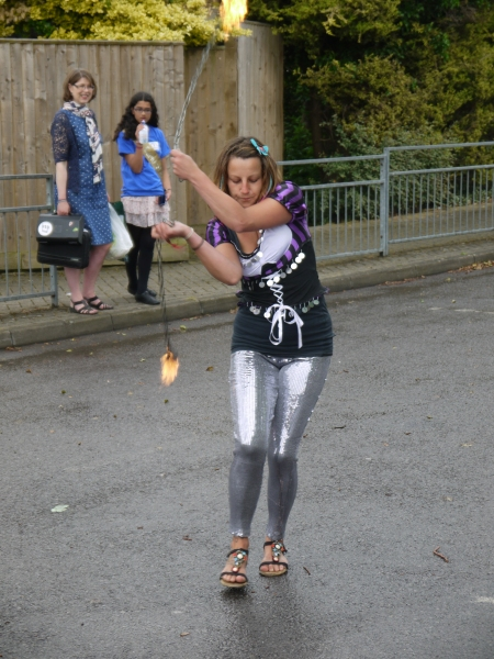 Sam was on fire with her poi...